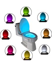Luce a LED per la Tazza del WC: Simpatica Lampada Attivata da un Sensore di Movimento. Novità nei Gadget Luminosi per il Bagno. Il Regalo Perfetto per Ragazzi Fidanzati Mamma Papà Uomini Nonni Donna
