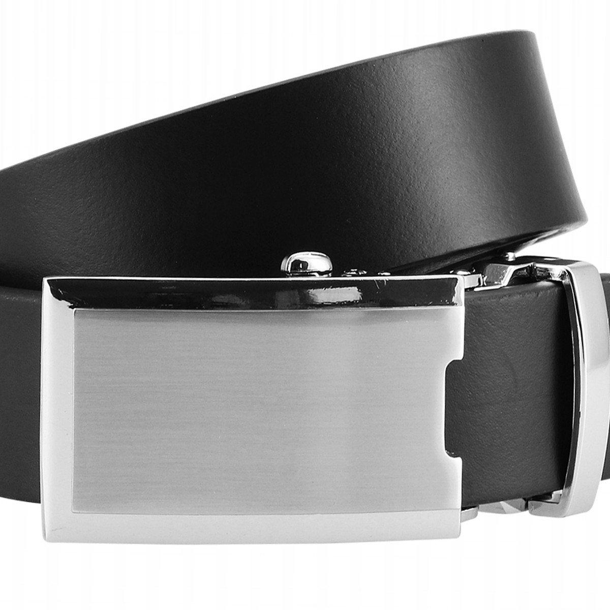 40275b32633577 Rindleder-Gürtel XL mit Automatik-Koppelschließe und Geschenk-Box schwarz  LINDENMANN Ledergürtel Herren/Gürtel Herren