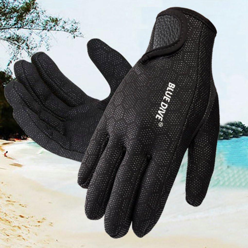 Befaith Unisex Impermeable 3 mm 5-Dedo Estiramiento Neopreno Guantes para el Buceo de nataci/ón