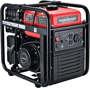 4400W Open Portable Generator, 3500W Rated Gas Outdoor Generator, Silent Generator,CARB Compliant, Single-cylinder Forced Air Cooling System, Home Backup, Red/Black, PS5040