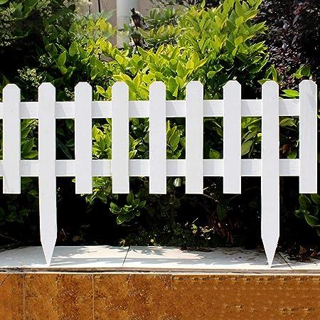 YINUO Cercos Jardín Poste de la Cerca de la Pantalla del césped del jardín Poste de la Cerca Plug-in Resistente a la corrosión Estable Artesanal de Madera Maciza de carbonización, 5 tamaños:
