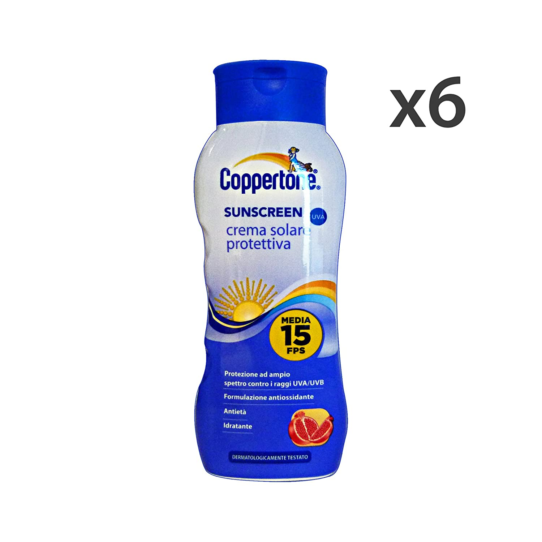 Set 6 COPPERTONE FP15 SUNSCREEN 200 Ml. Solarprodukte