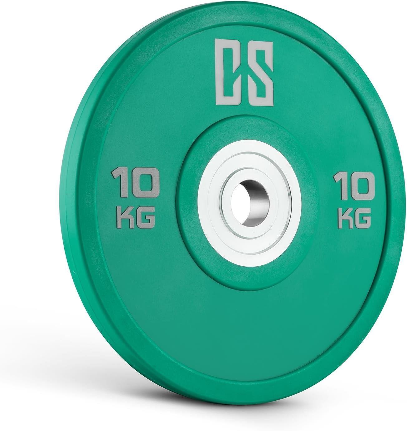 CAPITAL SPORTS Performan Juego completo Discos de peso 4 parejas 10-25 kg (Poliuretano, Dead Bounce, ideal barra olímpica o Cross-Training, Weight Drops - Saques, baja fricción): Amazon.es: Deportes y aire libre