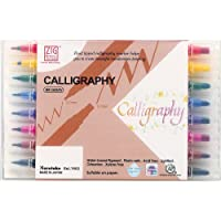 Zig Memory System Calligraphy Markers, Multicolor, 8-Pack