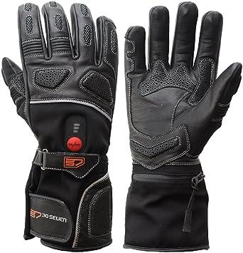Tiefstpreis weltweite Auswahl an innovatives Design 30seven Beheizbare Handschuhe Motorrad mit Akku für Damen und Herren,  schwarz   beheizte Handschuhe Motorradfahren