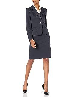 LeSuit Womens Dotted Jacquard 1 Button Shawl Collar Skirt Suit Suit-Skirt Set