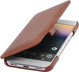StilGut Book Type Case con Clip, Custodia in Pelle Cover per Google Pixel Originale Chiusura a Libro Flip-Case in Vera Pelle, Cognac