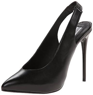 Steve Madden Women's Nici Dress Pump Black Leather Size 5.5