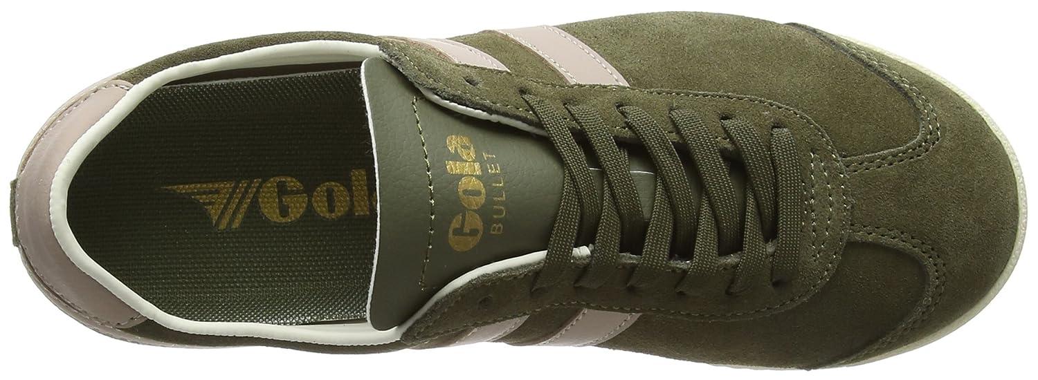 Gola Women's Bullet Suede Fashion Sneaker B078NH1TSR 10 B(M) US|Khaki/Blush Pink