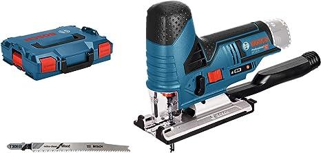 Bosch Professional Scie Sauteuse Sans-Fil GST 12V-70 Solo (12 V, Profondeur de coupe dans le bois/aluminium : 70/3 mm, L-Boxx)