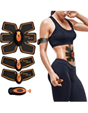 EGEYI Abs Trainer,EMS Muscle Stimulator,Abdominal Toning Belts Stomach Toning Belt Abdomen/Waist/Leg/Arm/Buttock 6 Modes & 10 Levels USB Rechargeable,Body Fitness Exercise Equipment,Toner