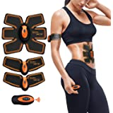 Abs Trainer,EMS Muscle Stimulator,Abdominal Toning Belts Stomach Toning Belt Abdomen/Waist /Leg/Arm/Buttock 6 Modes & 10 Levels USB Rechargeable,Body Fitness Exercise Equipment,Muscle Toner (men/women)