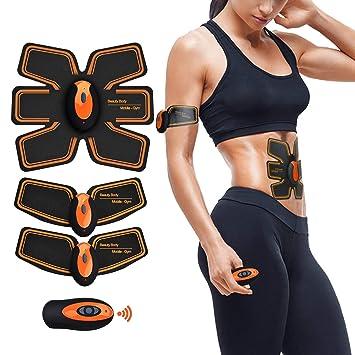 Electroestimulador Muscular Abdominales Cinturón,Estimulador Abdominal Aparatos Para Adelgazar Maquina Abdominales,Entrenador Portátil Masajeador