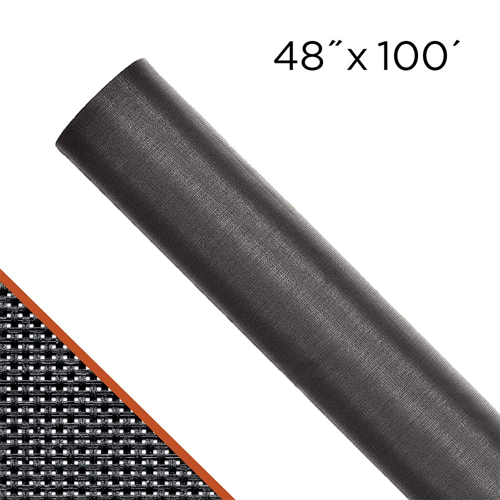 ADFORS Premium Solar Screen, 48'' x 100', Charcoal