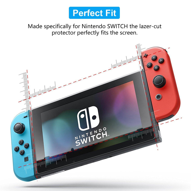 iVoler [2 Unidades] Protector de Pantalla para Nintendo Switch, Cristal Vidrio Templado Premium: Amazon.es: Electrónica