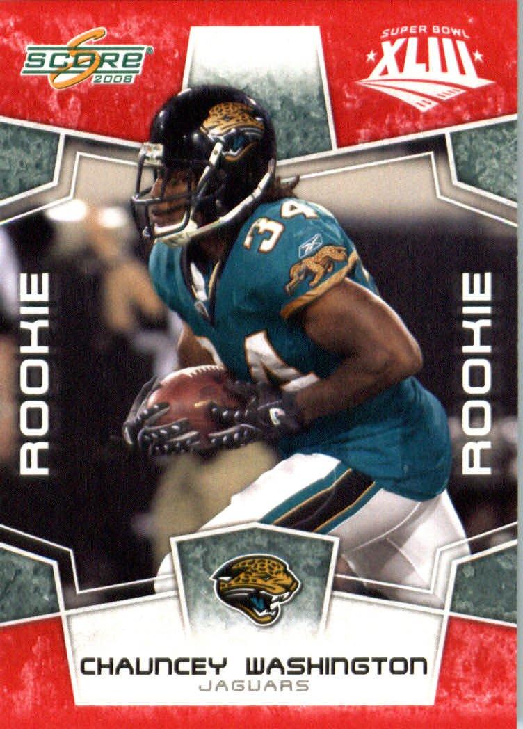 2008スコアレッドSuperbowl Edition NFLフットボールカード(のみ2400 Made B00B7TU3MS ) – Made # 423 – Chaunceyワシントン( RC – ルーキーカード) RB – Jacksonville Jaguars B00B7TU3MS, 古典:6e894b21 --- harrow-unison.org.uk