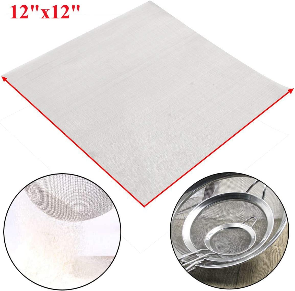 Ctghgyiki Stainless Steel 30x30cm Woven Wire Filter Mesh Cloth 140 Mes Mesh