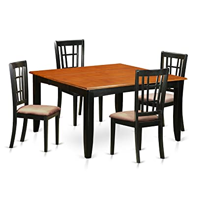 6ce05061269 Amazon.com  East West Furniture PFNI5-BCH-C 5 Pc Room Set Table and ...