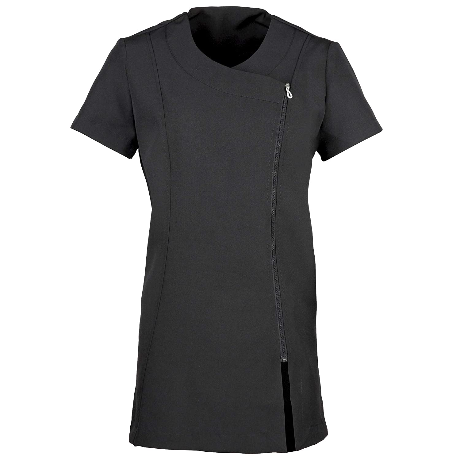Black Premier Ladies Womens Camellia Tunic Health Beauty & Spa Workwear (Pack of 2)