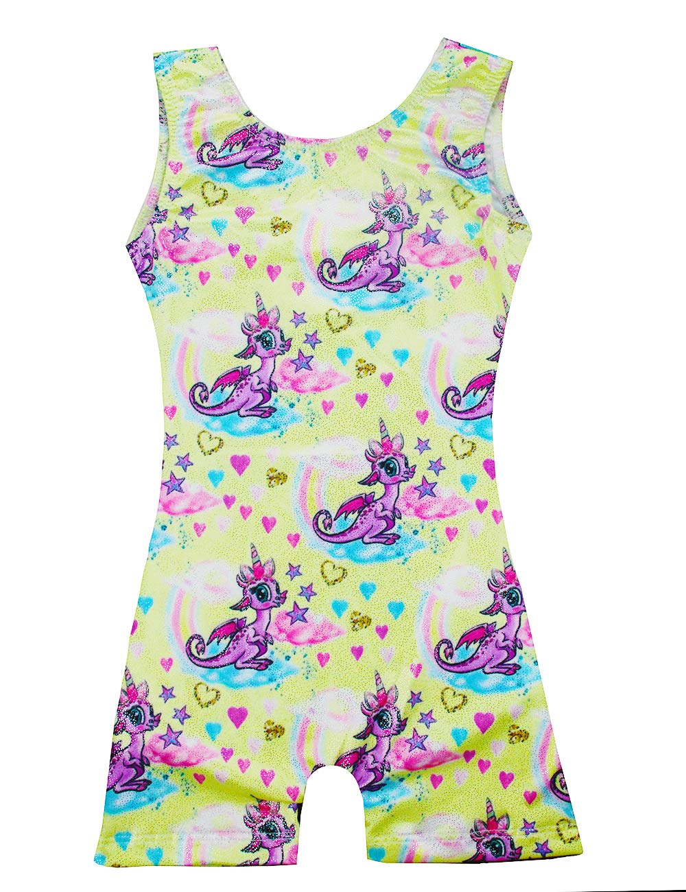 Kids Tank Gymnastics Leotards With Short,Sparkly Athletic Girls' Dance Apparel Unitards Quick-Dry (Purple,110 for 4-5T) by Midout