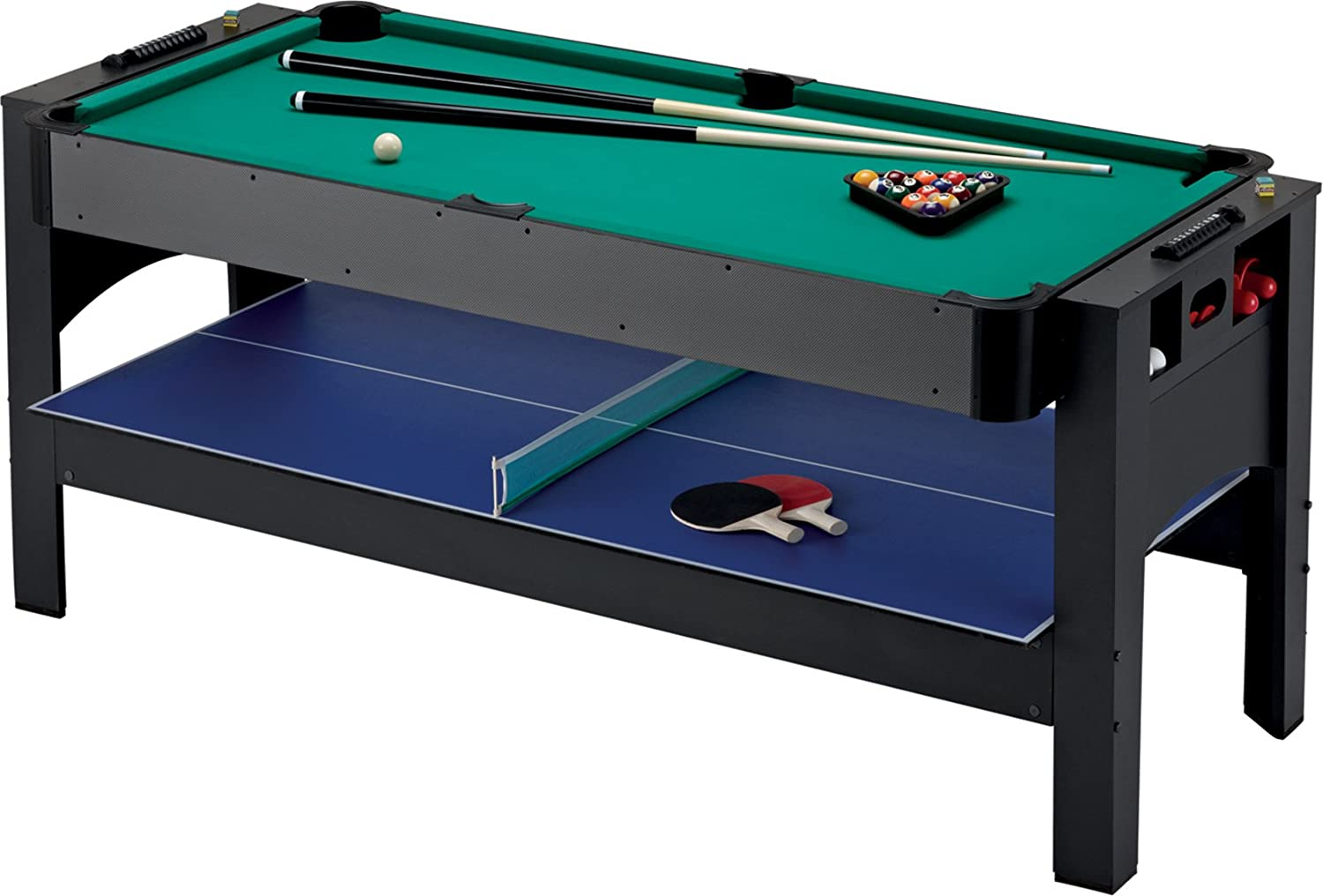 Beau Amazon.com : Fat Cat Original 3 In 1, 6 Foot Flip Game Table (Air Hockey,  Billiards And Table Tennis) : Combination Game Tables : Sports U0026 Outdoors