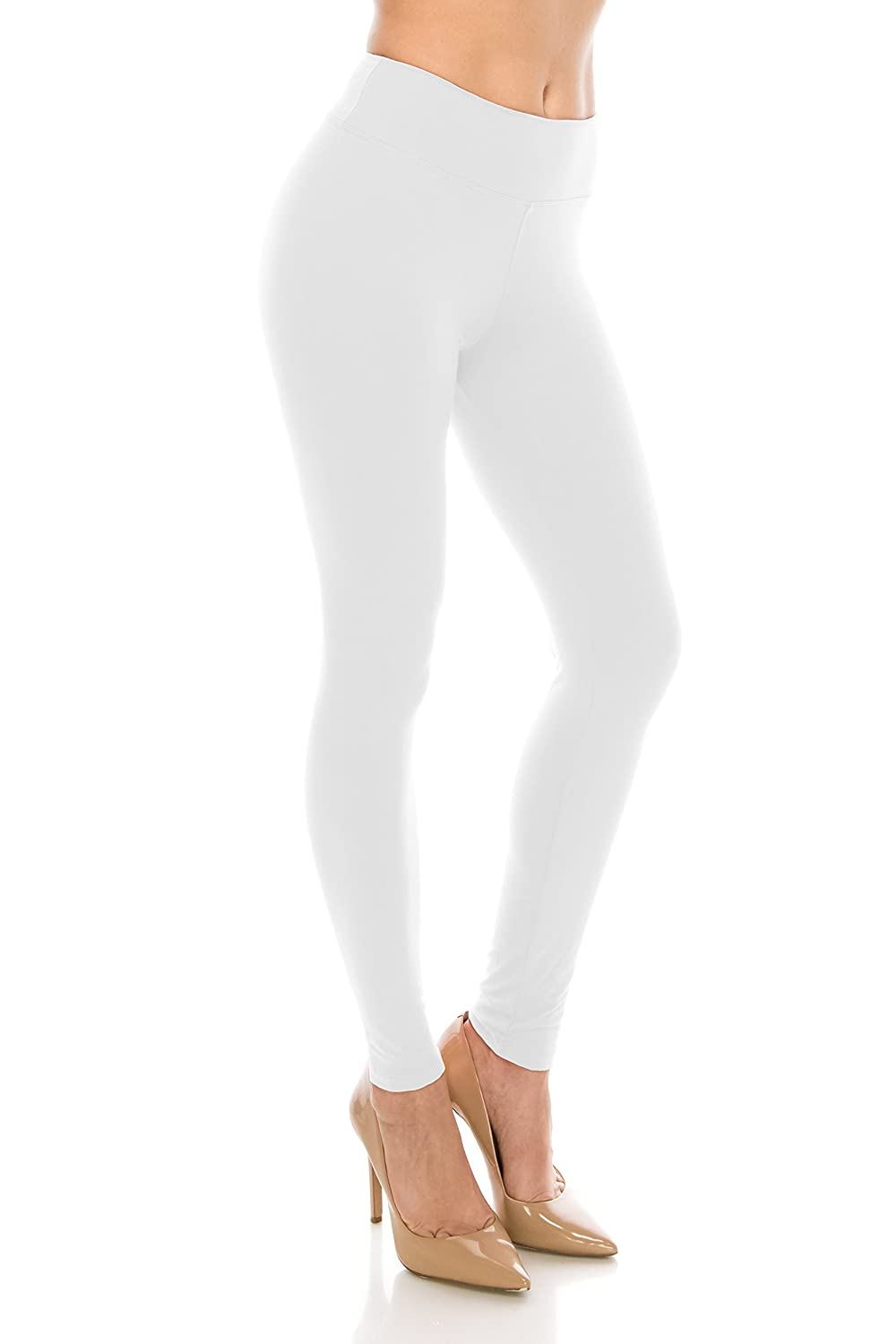 Always Women Solid Basic Soft Stretch High Waist Leggings by Always