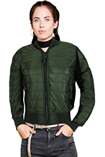a097206ae Brave Soul Ladies Jacket Womens Coat Padded Quilted Bomber Funnel ...