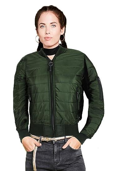 27527ac7b Brave Soul Womens Designer Alex Bomber Jacket Ladies Padded MA1 ...