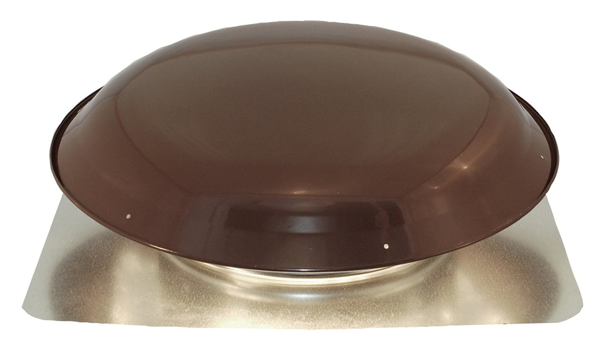 Cool Attic CX1000AMBR Power Roof Galvanized Steel Vent Dome with 3.4 Amp Motor, Brown