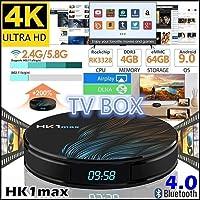 RONSHIN HK1 MAX Smart TV Box Android 9.0 4 GB 128 GB 64 GB 32 GB Rockchip 4K WiFi Netflix Set Parte Superior Box Reproductor Multimedia, 2 GB/16 GB estándar de EE. UU.