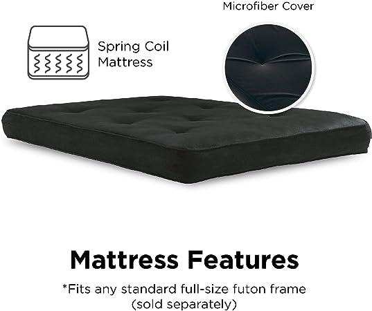 Milliard Memory Foam Futon Mattress Full Size Frame Not Included Black