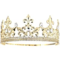 King Z King Crown | Gold Metal Ring for Men | Adjustable Costume Accessory