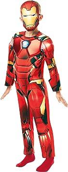 Rubies Marvel Avengers Deluxe-Disfraz Infantil de Iron Man, Color ...
