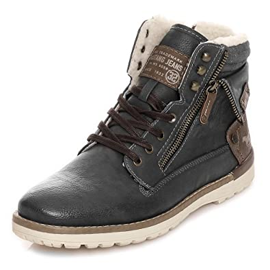 c347df0b478308 Mustang Shoes Herren Schuhe Winterboots 4092-606-259 Graphit 48 ...