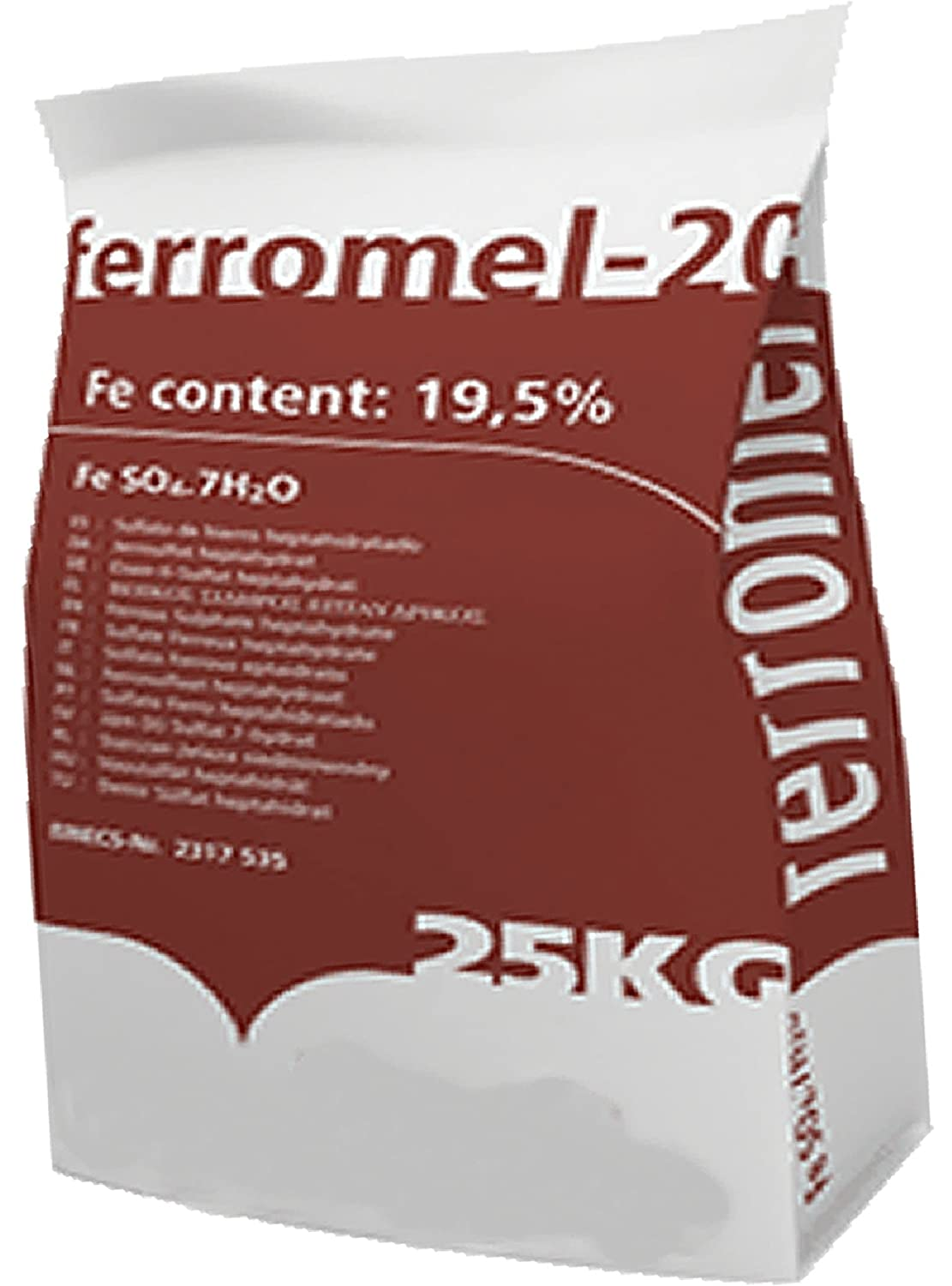 Iron Sulphate 25KG PREMIUM Lawn Conditioner & Lawn Feed - Ferrous Sulphate / Sulphate of Iron - EASY DISSOLVE, EASY SPRAY, EASY SPREAD Ferromel
