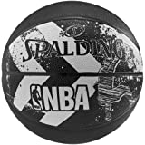 Spalding 1700011 Rubber Basket Ball, Size 7 (Black)