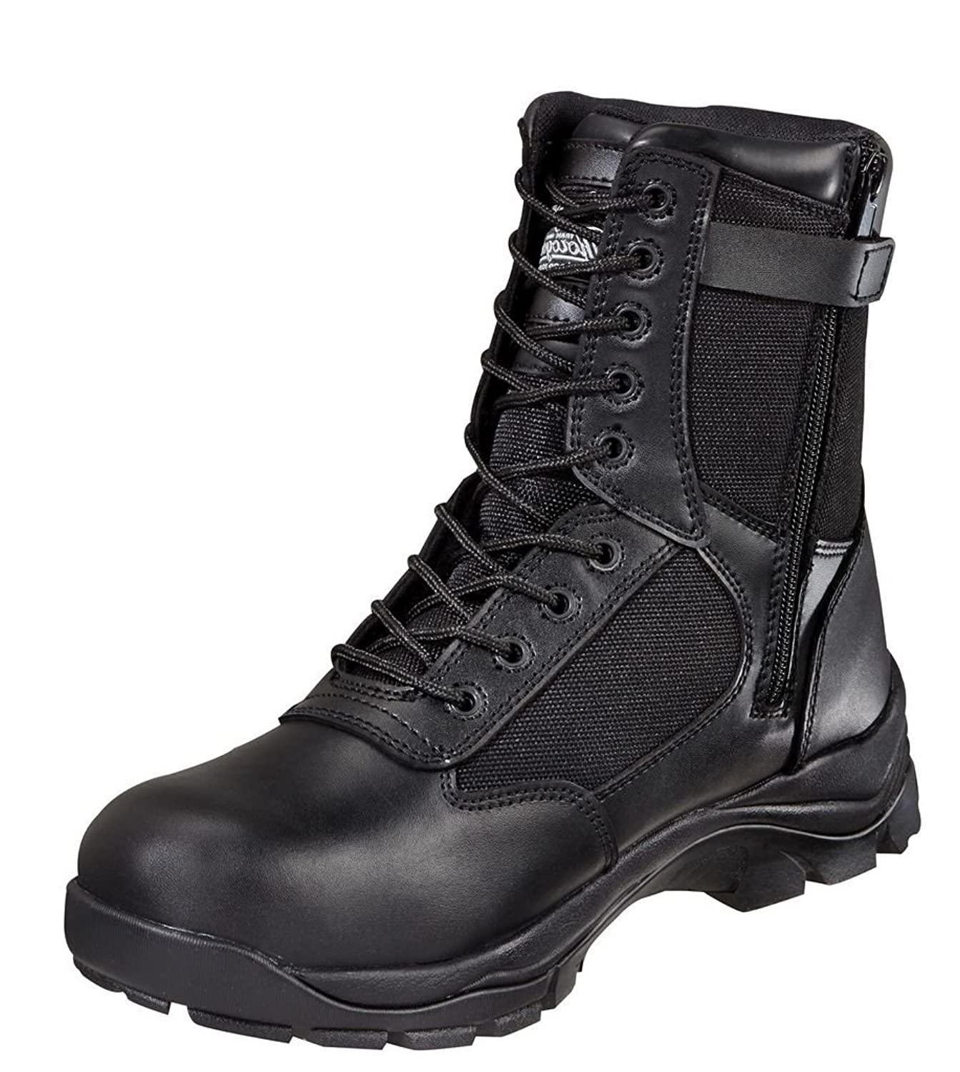 834-6044 Thorogood Men's Side Zipper 8IN Uniform Boots - Black