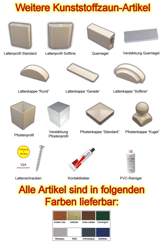 """Kunststoff Lattenprofil """"Softline"""" 1 18m in weiß Amazon Baumarkt"""