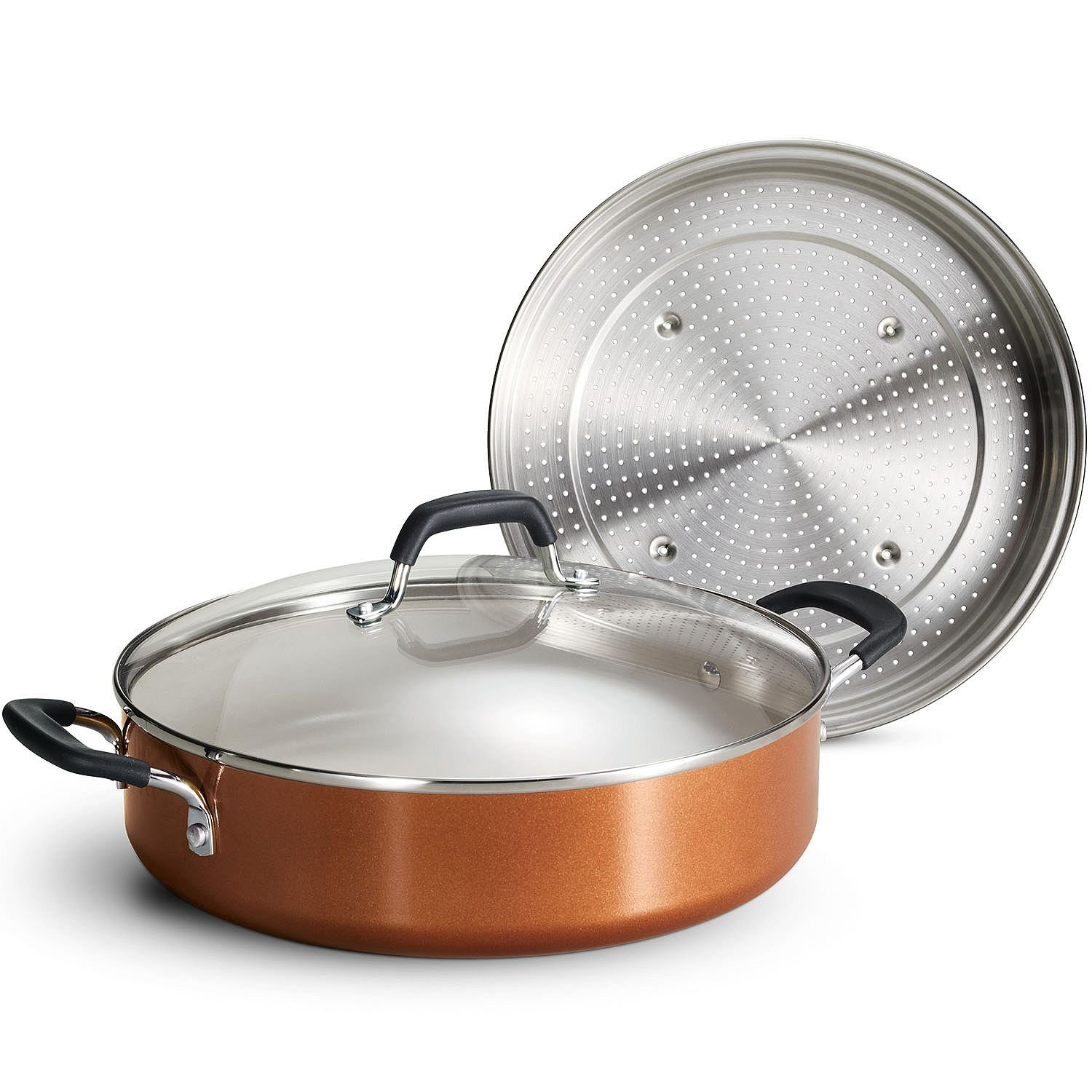 Tramontina Nonstick Everyday Pan, 5.5 qt. - Copper by Tramontina