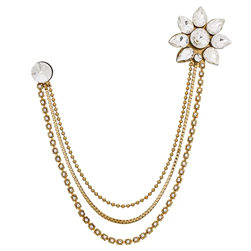 a12b09be106 Buy The Luxor Gold Plated Alloy Saree Brooch for Women & Girls (ACC6142)  Online at Low Prices in India | Amazon Jewellery Store - Amazon.in