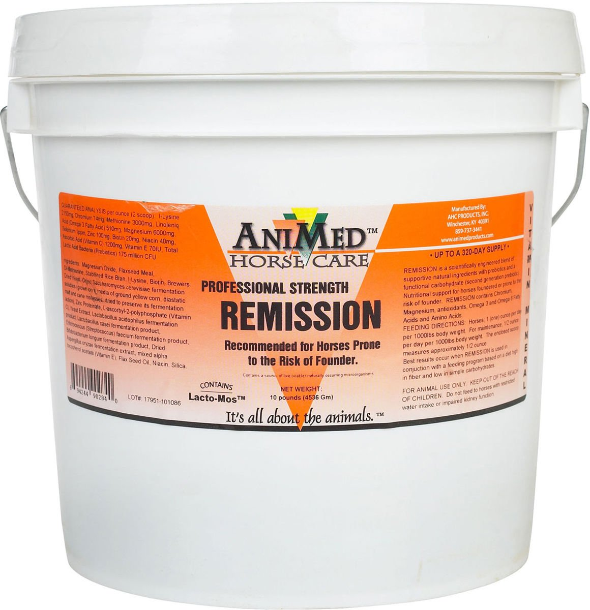 Remission Prevent Founder Antioxidants Amino Acids Relieves Pain Horse 10 lb tub