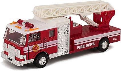 Rhode Island Novelty 15 Piece Die Cast Fire Engine Team Set