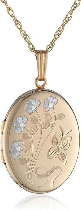 Locket Necklace Gold Heart Locket 10K Locket Locket Engraved Locket Oval Gold Locket Pure Gold Locket Oval Locket 10K Gold Locket