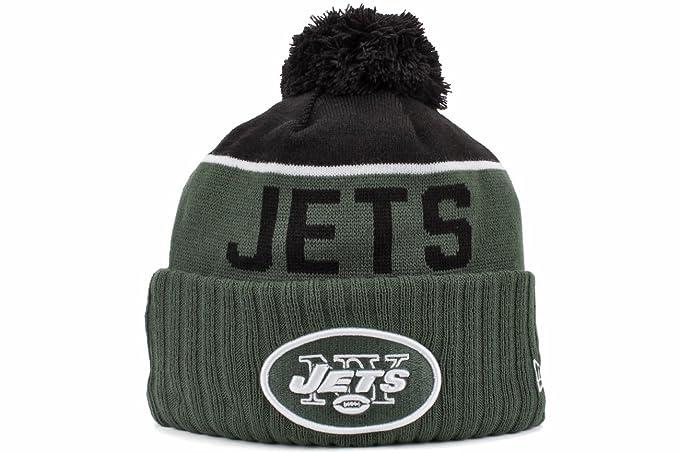 New Era Men s NFL 2015 New York Jets Sport Knit Hat Green Black Size One d2ac9ed5e