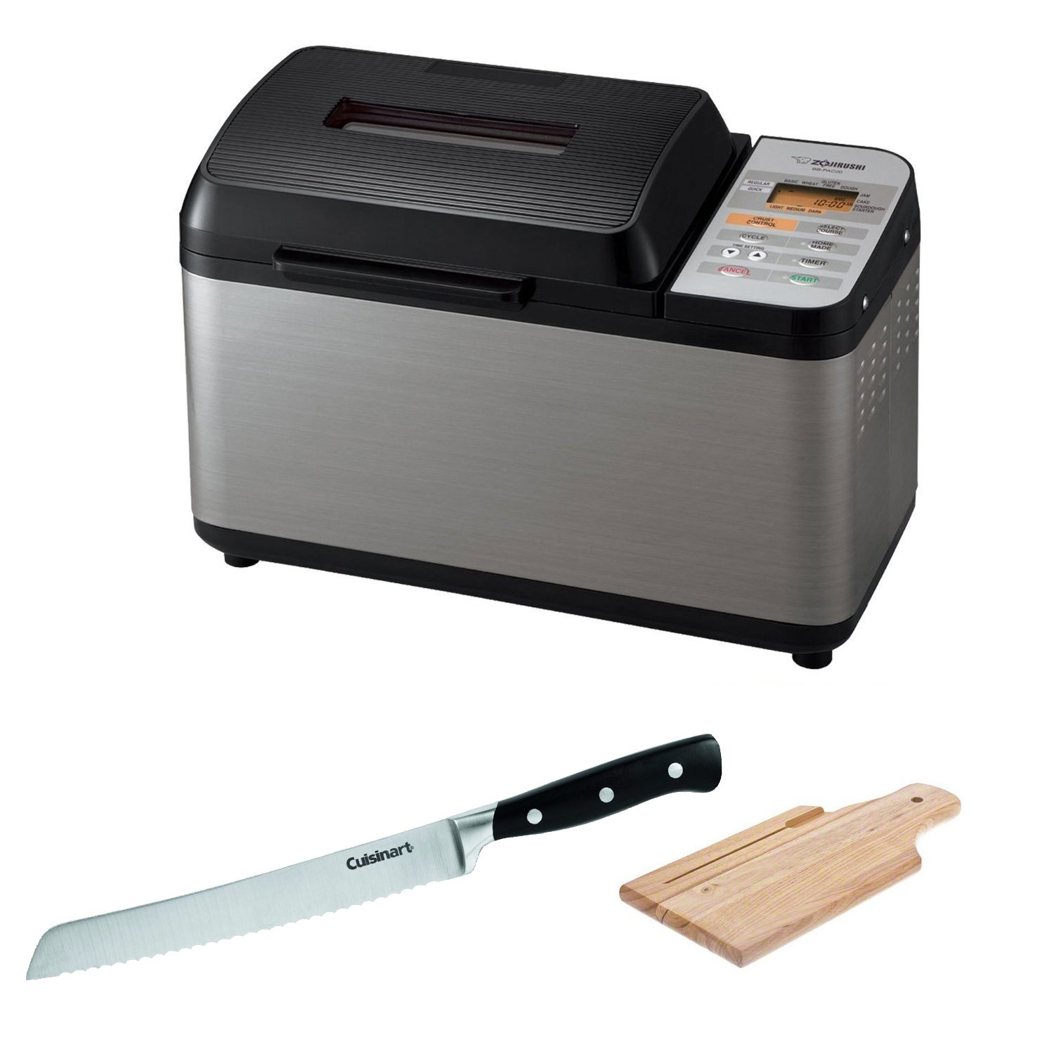 Zojirushi BB-PAC20 Home Bakery Virtuoso Breadmaker + Bread Knife, 8'' + Accessory Kit