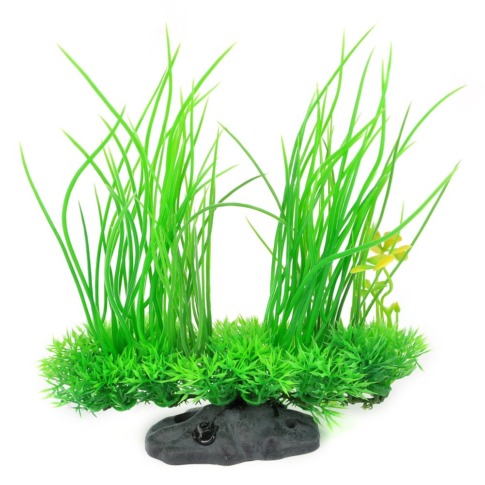 Aquarium Plants, High Simulation Artificial Plastic Plant Green Grass Aquarium Decoration for Fish Tank Landscaping Aquarium Accessories, Water Grass Décor, 8.3 Inch