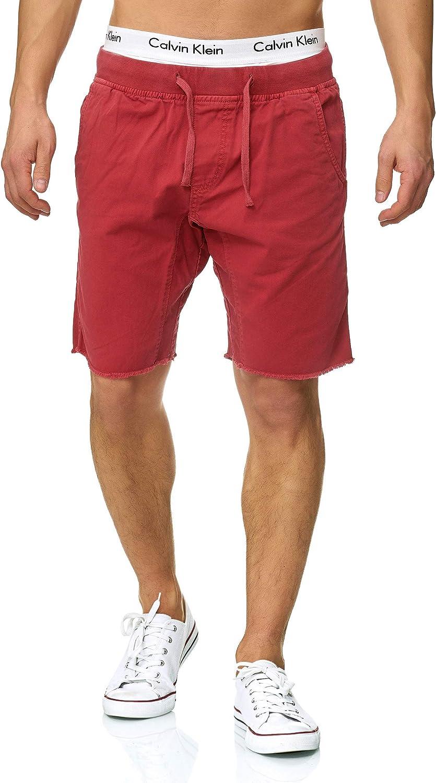 Indicode Caballero Carver Pantalones Cortos Chinos de 100% algodón | Más Corto Pantalón Regular Fit Bermudas Verano Largo por la Rodilla Destroyed Men Pants Chino para Hombres