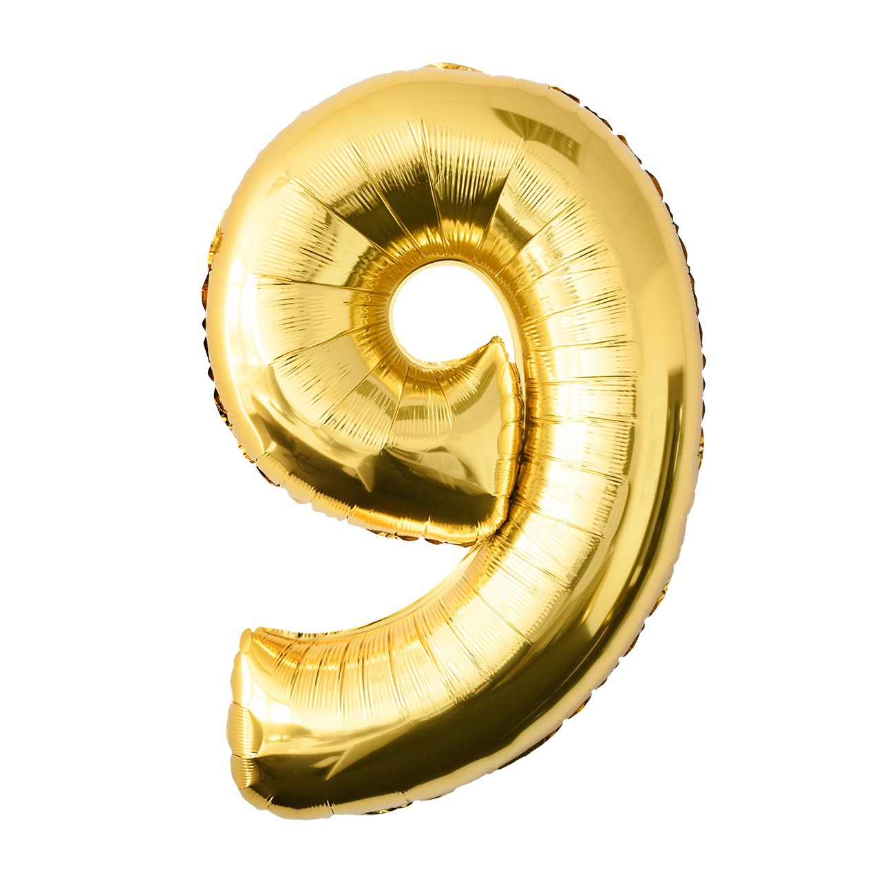 Folienballon Zahl 8 Nummer Luftballon Kindergeburtstag Geburtstag Gold 91x60