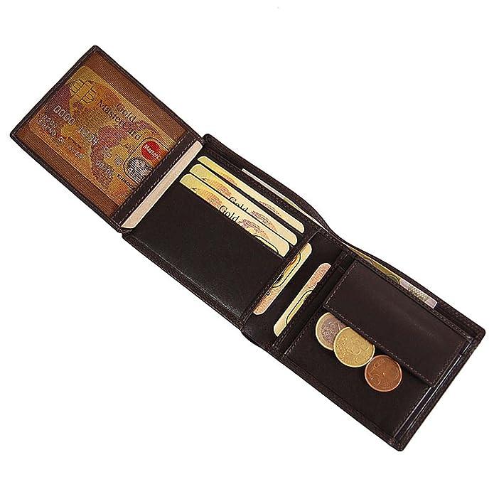 0cf4fbb8c4a53 BOCCX kleine Herren Geldbörse Leder Herrenbörse Querformat Geldbeutel 30021  GoBago (Braun)  Amazon.de  Schuhe   Handtaschen