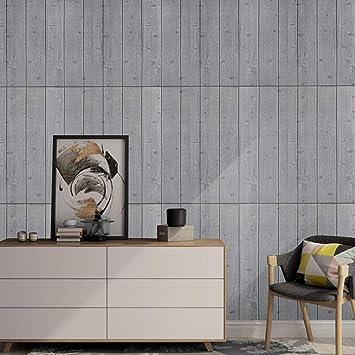 KINLO 5pcs 70 X 70 Cm Tapete Selbstklebend Holzoptik 3D Wandaufkleber PVC  Verdicht DIY Schaum Wandpaneele